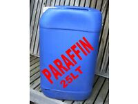 PARAFFIN 25 TO 150 LT IN PLASTIC CONTAINERS GREENHOUSE HEATING OR GARAGE WASH DOWN £30 TO £125