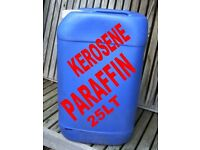 PARAFFIN 25 LT IN A PLASTIC CONTAINER GREENHOUSE HEATING OR GARAGE WASH DOWN KEROSENE