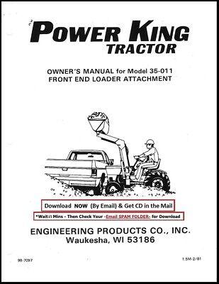 Power King Front Loader Manual Model 35-011 Service Parts Manual