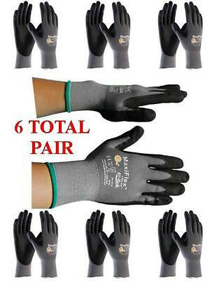 G-tek Maxiflex 34-874 Pip Seamless Knit Nylon Gloves - 6 Pairs - Choose Size