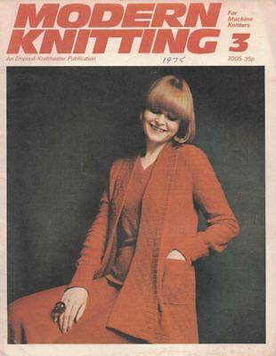 Modern Knitting #3 1975 Machine Knitting Patterns UK Magazine Vintage Hip Boho