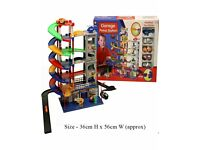 Brand New Unboxed 6 Level Car Parking Garage Auto Park Petrol Station Kids Play Set Toy