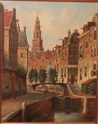 OLD LISTED ARTIST fine art OIL PAINTING original vintage impressionist artwork $