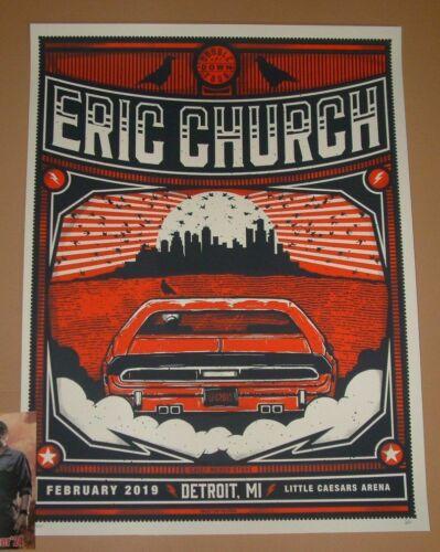 Eric Church Subject Matter Studio Detroit Poster Pop-Up Store Print Signed 2019 - $174.99