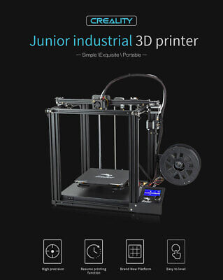 Creality Ender 5 3D Printer, Magnetic Bed, Resume Print, Dual Y-Axis, Face Masks