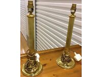 BEAUTIFUL PAIR OF VINTAGE BRASS LAMPS - EXCELLENT CONDITION - £40 ONO