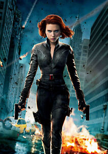 Scarlett Johansson Black Widow A4 Poster Print