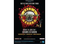 2 Guns N Roses Standing Tickets - Friday 16th June - £200 for the Pair.