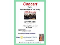 CONCERT BY THE PERTH STRATHSPEY AND REEL SOCIETY FIDDLE ORCHESTRA