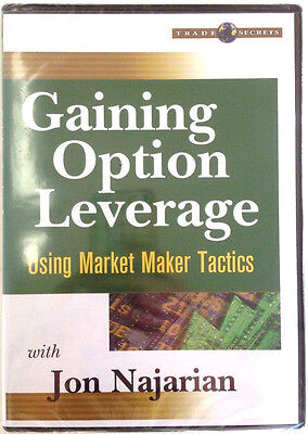 Gaining Option Leverage  Using Market Maker Tactics By Jon Najarian   New Dvd