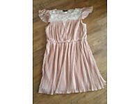 Beige Pleated dress size 18