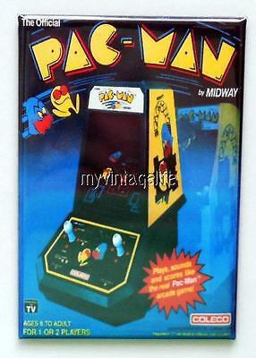 "Vintage PAC-MAN Table Top Arcade Game COLECO 2"" x 3"" Fridge MAGNET MIDWAY PACMAN"