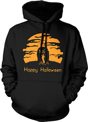 Happy Halloween Tombstone Graveyard Scary Horror Ghouls Zombie Hoodie - Happy Halloween Ghouls