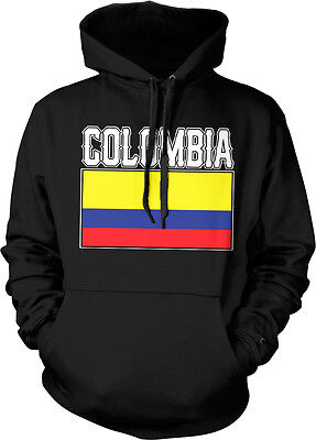 Bold Colombia Flag   Colombian Pride Republic Of Colombia Hoodie Pullover