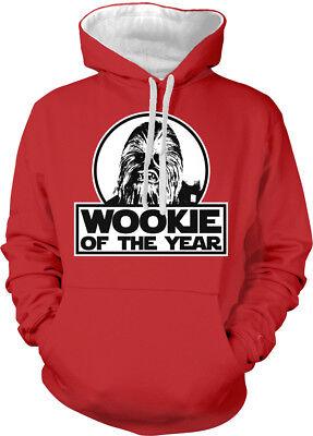 ookie Movie Character Science Fun Two Tone Hoodie Sweatshirt (Wookie Hoodie)