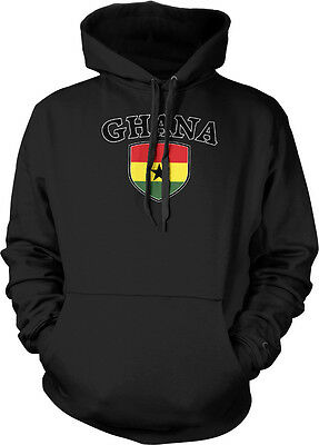 Ghana Country Flag Crest - Ghanaian Pride Flag Colors Hoodie Pullover - Ghana Flag Colors