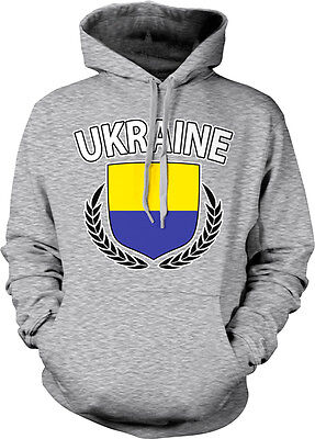 - Ukraine Shield Crest Coat Of Arms Ukrainian Country Born From Hoodie Sweatshirt