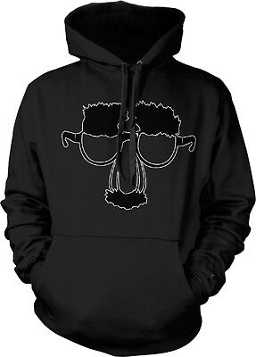 Funny Face Glasses with Nose and Mustache - Disguise Funny Hoodie Pullover