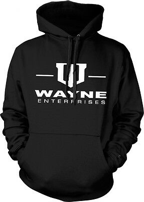 Wayne Enterprises Bruce Dark Knight Batman Gotham Hoodie Pullover Sweatshirt (Dark Knight Hoodie)