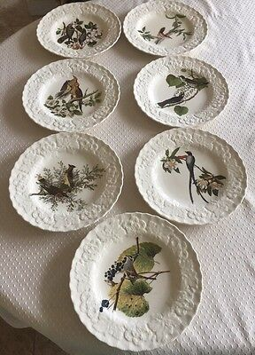 Alfred Meakin England Birds Of America 7 -8.78 Dinner Plates