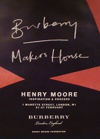 BURBERRY Makers House, Henry Moore, Red Poster, Henry Moore Foundation
