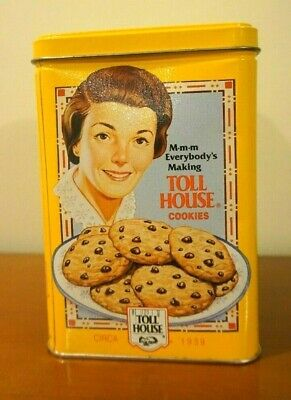 Nestle Toll House Cookies Limited Edition Collector Tin / Canister Yellow  #1947