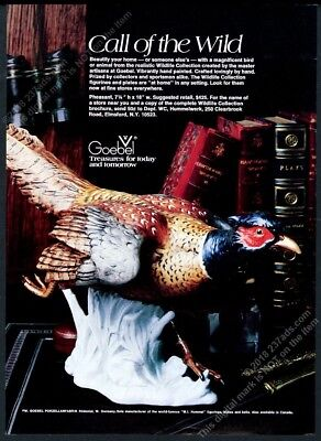 1978 Goebel pheasant figure color photo vintage print ad