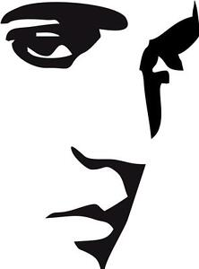 Elvis-Presley-Face-Removable-Vinyl-Decal-Wall-Sticker-Various-Colours-DyeNamic