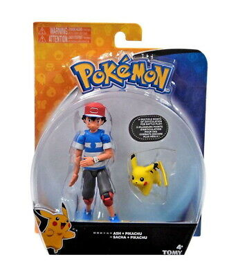 "Pokemon 4"" Ash and Pikachu Figures Playset, Tomy"