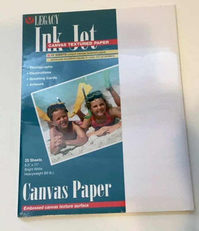 Inkjet Canvas Paper, 25 Sheets Bright White 65lb: Photos-Artwork-Greeting Cards!
