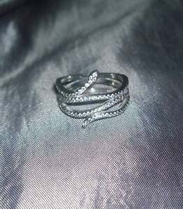 Pandora Silver Swirling Snake Ring Fletcher Newcastle Area Preview