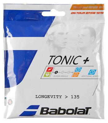 - Babolat Tonic+ Longevity Natural Gut 15L 1.35mm Tennis Strings Set