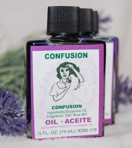 Confusion Magickal Oil (1) 4DRMs, Block Gossip, Confuse  Santeria, Hoodoo, Wicca