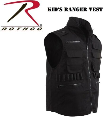 Army Ranger Kids Vest Black Airsoft Paintball Hunting Vest With Hood 8557 Rothco