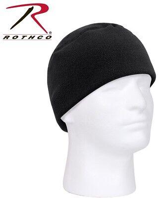 71e2b55fa26 Black Watch Cap Military Style Warm Polar Fleece Skiing Hat Beanie Rothco  8460
