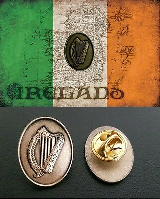 Official Irish Harp Pin™ national emblem lapel pin, good luck charm, Ireland,