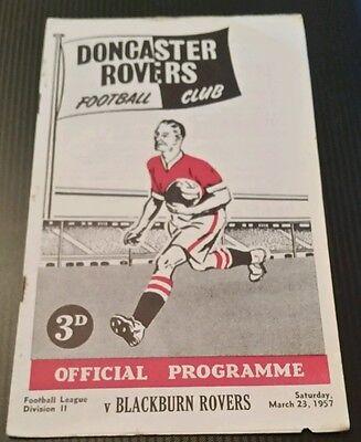 Doncaster Rovers v Blackburn Rovers Programme 23/03/57