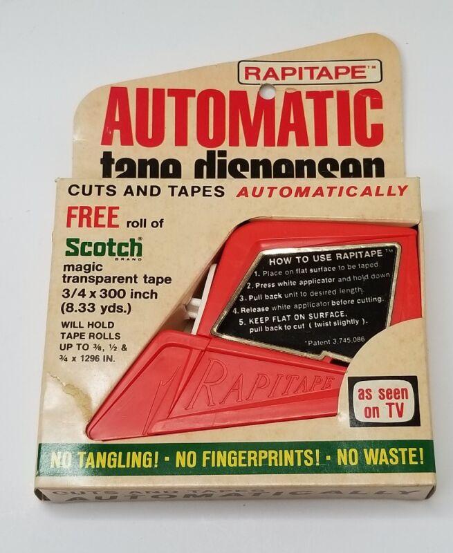 Tape Dispenser Vintage RAPITAPE Automatic Cuts & Tapes