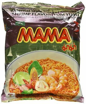 30 Pack Mama Thai Instant Noodle Tom Yum Shrimp Flavour Hot Spicy Food Ramen -