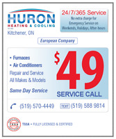 FURNACES & AIR CONDITIONERS 24/7 REPAIR & SERVICE $49 S. CALL