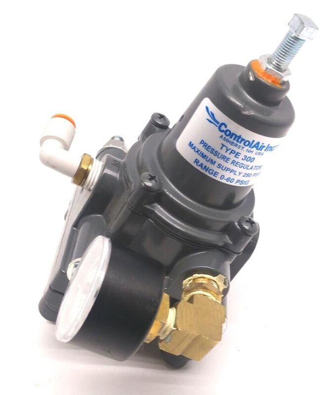 Control Air Type 300 Pressure Regulator, Max Supply: 250 PSIG, Range: 0-60 PSIG