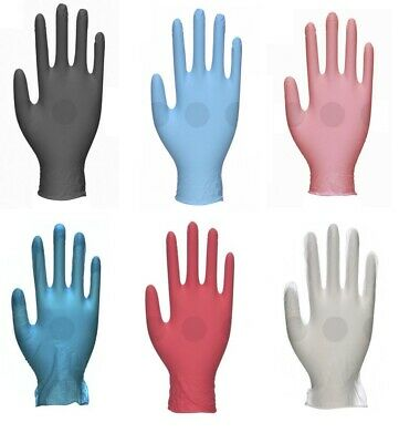 Unigloves Disposable Powder Free Stretch Vinyl Nitrile Blue Pink Red Box Of 100