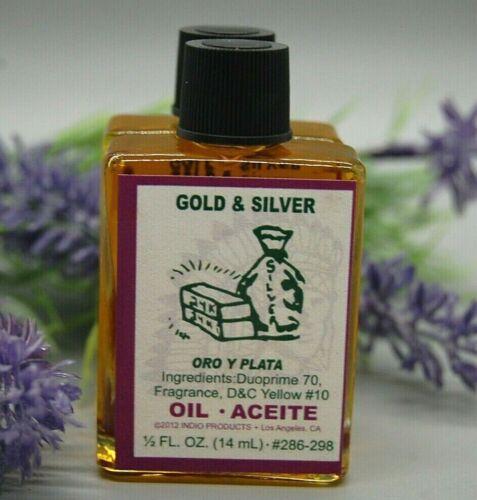 Gold & Silver Magical Oil (1) 4DRMs  Abundance,  Money, Wealth, Santeria, Hoodoo