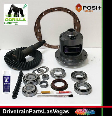 GM Chevy 8.5 10 Bolt Posi Limited Slip 3.08 Gear Set Master Kit Gorilla Grip