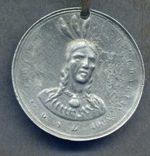 American Cherokee Indian Peace Medal, Modern Replica, Sequoyah
