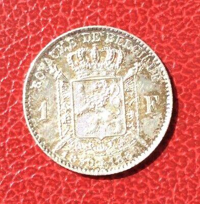 Belgique - Léopold II - Superbe monnaie de 1 Franc 1880 - Cinquantenaire