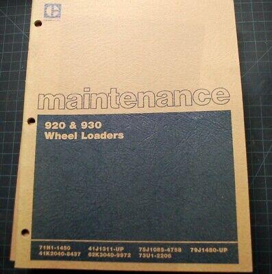 Cat Caterpillar 920 930 Wheel Loader Front End Maintenance Manual Guide Book Oem