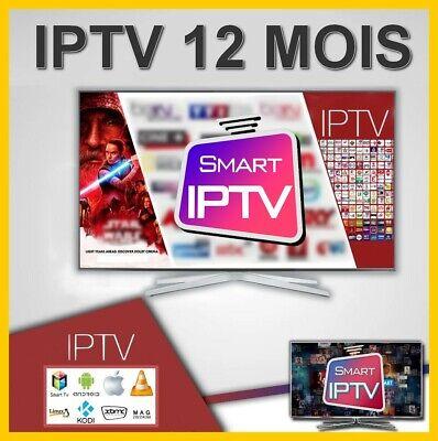 IP&TV 12 Mois Abonnement Smarters*Pro- SMART tv 4K Ultra HD WiFi