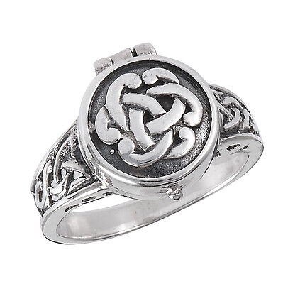 Sterling Silver Poison Ring CELTIC Knotwork Design OPENS Size 6-10