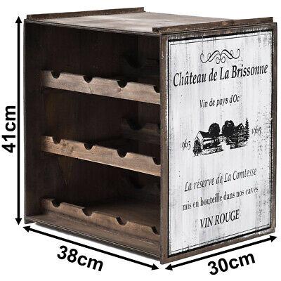 Weinregal Weinschrank Weinkiste Flaschenregal Regal Schrank Holz 41x38x30cm Weiß